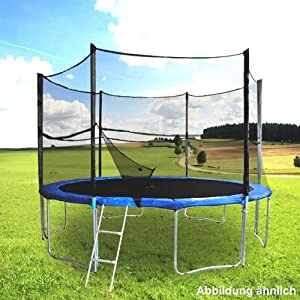 trampolin 4m sicherheitsnetz mit leiter garten. Black Bedroom Furniture Sets. Home Design Ideas