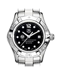 University of Pittsburgh TAG Heuer Watch - Women's Aquaracer with Black