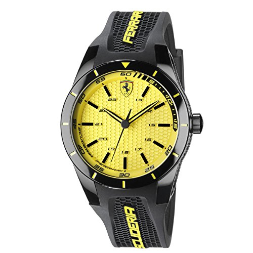 Scuderia Ferrari 0830246 Men's Yellow Accented Red Rev Watch