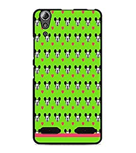 PrintDhaba Mickey Face Pattern D-1596 Back Case Cover for LENOVO A6000 (Multi-Coloured)