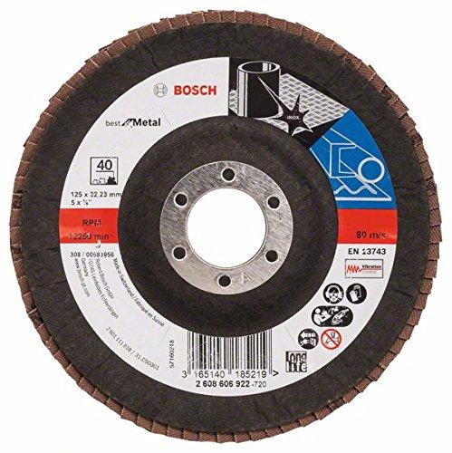 Bosch 2608606922 - Disco a lamelle a superficie bombata, diametro 125mm, grana 40
