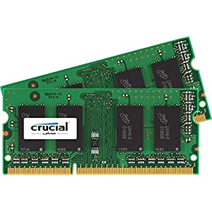 Crucial 4GB Kit (2x2GB) DDR3L 1600 MT/s (PC3-12800) SODIMM 204-Pin Memory - CT2KIT25664BF160B