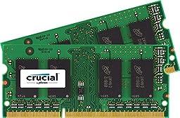 Crucial 8GB Kit (4GBx2) DDR3/DDR3L 1600 MT/s (PC3-12800) SODIMM 1.35V/1.5V 204-Pin Memory for Mac - CT2K4G3S160BM