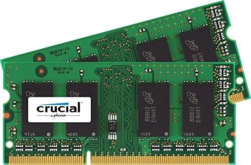 Crucial 16GB Kit (8GBx2) DDR3/DDR3L-1600 MHz (PC3-12800) CL11 204-Pin SODIMM Memory for Mac CT2K8G3S160BM / CT2C8G3S160BM