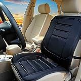 LEMONBEST™ Car Cold Winter Heated Seat Cushion Hot Cover Auto 12V Heat Heating Warmer Pad-winter Black