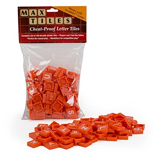 "Scrabble Tiles * - Full Set of 100 ""Cheat Proof"" Plastic Tiles (Orange) - Perfect for Professional Use, Scrapbooking, or Crafting!"