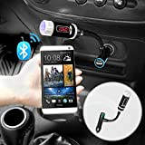 FM Transmitter, iKross Multifunction A2DP Bluetooth Car Radio FM Transmitter with Handsfree - Black