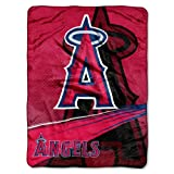 MLB Los Angeles Angels Speed Plush Raschel Throw Blanket, 60x80-Inch at Amazon.com