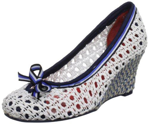 Poetic Licence Women's Wonder About White Multi Wedges Heels 4113-1 5 UK, 38 EU