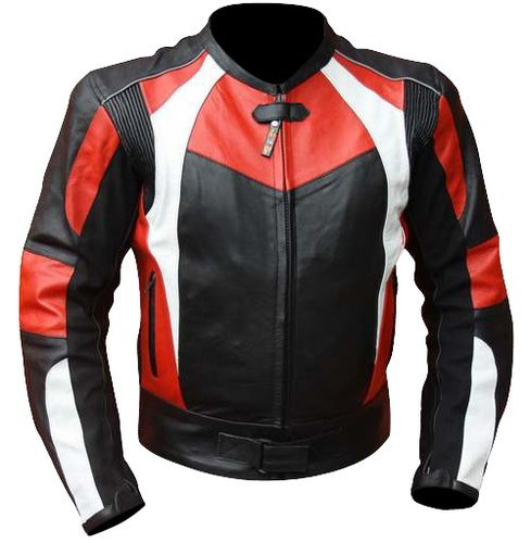 Australian Bikers Gear RED VIPER SPORTS LEATHER MOTORCYCLE JACKET CE ARMOURED (52) - 52.0