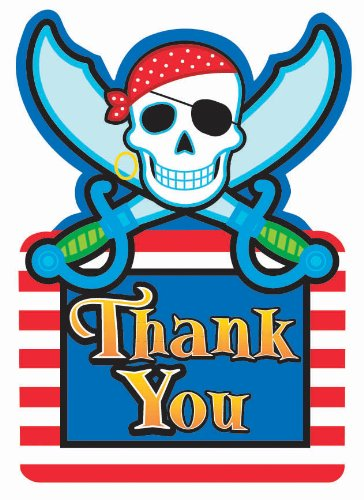 Pirate Party Thank You Cards (pack of 8)