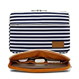 Canvaslife Breton Stripe Pattern 360 Degree Protective 13 inch Canvas Laptop Sleeve with Pocket 13 Inch 13.3 Inch Laptop Case (Color: Breton Stripe, Tamaño: 13 inch/13.3 inch)