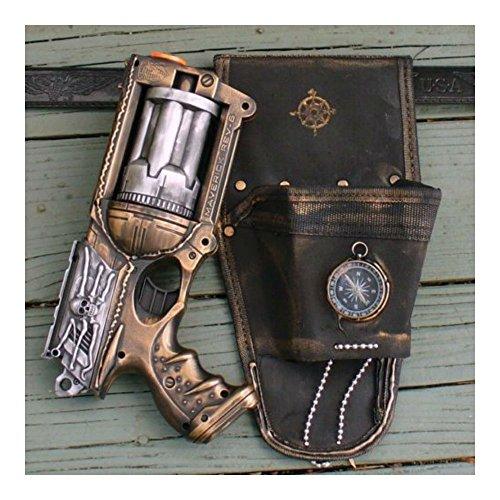 Steampunk Gun Nerf Maverick N-Strike HOLSTER+belt+gun goth soft darts toy Zombie