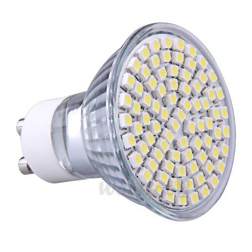 Gu10 Pure White 80 3528 Smd Leds Office Spotlight Spot Light Lamp Bulb 4W 230V