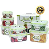 Plastic Food Storage Containers - Set of 7 - 100%...