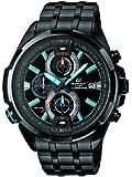 Casio  Edifice - Reloj de cuarzo para hombre, con correa de acero inoxidable, color negro