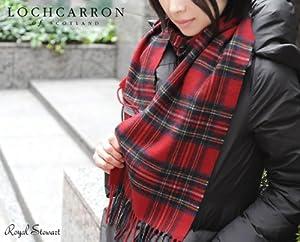 英国王室ご愛用 Lochcarron of scotland ロキャロン英国スコットランド製 タータンチェック柄 カシミヤ100% フリンジマフラー メランジカラー 全14柄