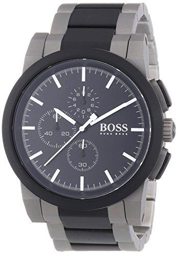 Hugo Boss  NEO - Reloj de cuarzo para hombre, con correa de acero inoxidable, color gris