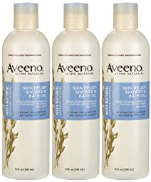 Aveeno Skin Relief Shower & Bath Oil - 10 oz - 3 pk