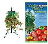 TOPSY TURVY TOMATO TREE WITH STEEL STANDS -''TURNING THE WORLD OF GARDENING UPSIDE DOWN'' - SET OF 2
