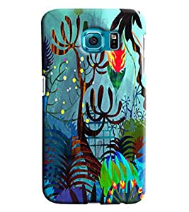 Blue Throat Jungle Cartoon Effect Printed Designer Back Cover/ Case For Samsung Galaxy S6