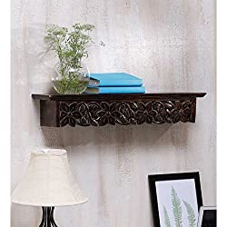 Onlineshoppee Large Solid Wood Wall Shelf