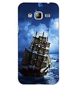 ColourCraft Amazing Ship Design Back Case Cover for SAMSUNG GALAXY J3 (2016)