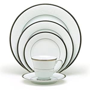 Amazon.com: Noritake Regina Platinum 5-Piece Place Setting ...