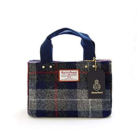 987b2460a65a トートバッグ☆S☆♪チェックネイビー TOTE S check navy HAR