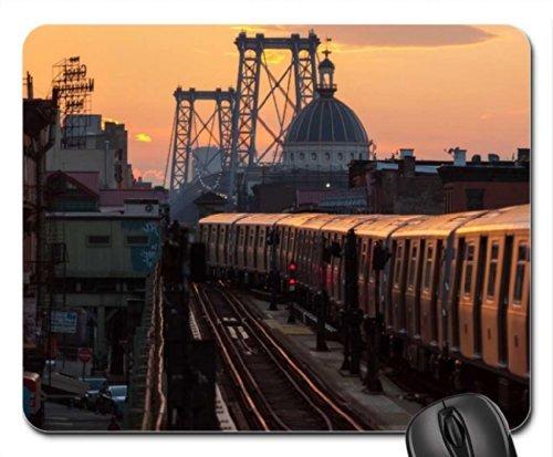 subway-coming-off-the-williamsburgh-bridge-nyc-mouse-pad-mousepad-bridges-mouse-pad