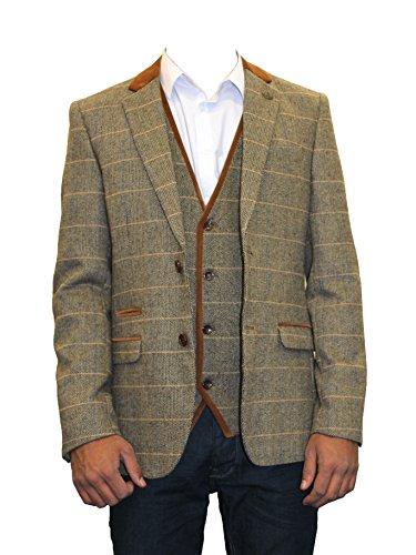 Marc-Darcy-Mens-Designer-Formal-Herringbone-Tweed-Blazer-Jacket
