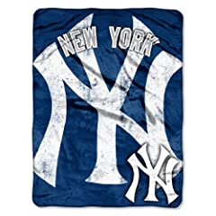 MLB New York Yankees Micro Raschel Plush Throw Blanket, Trip Play Design by Northwest