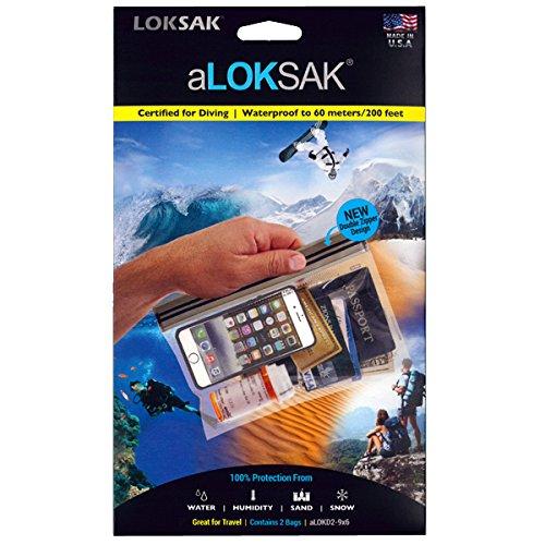 LOKSAK(ロックサック)万能防水・防塵ケース M(2枚入)ダブルジッパーデザイン