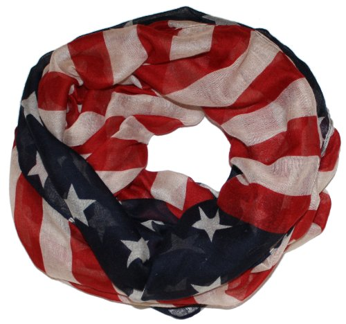 Modern Minute's American Dream Scarf in Vintage Stars and Stripes Infinity ()