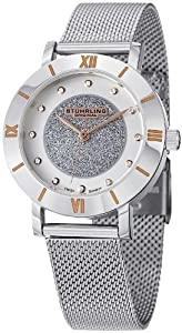Stuhrling Original Women's 738.01 Audrey Astra Elite Swiss Quartz Swarovski Mesh Watch