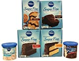 Pillsbury Sugar Free Variety Cake Mix and Frosting Bundle. Moist Cake, Supreme Brownie, Cinnamon Muffin and Ready-To-Use Icing