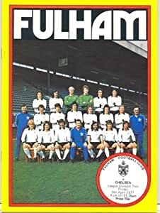 Fulham v Chelsea official programme 08/04/1977