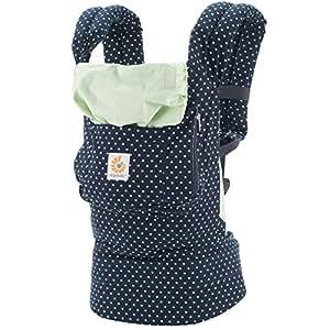 Ergobaby Babytrage Kollektion Original (5,5 - 20 kg), Indigo Mint Dots