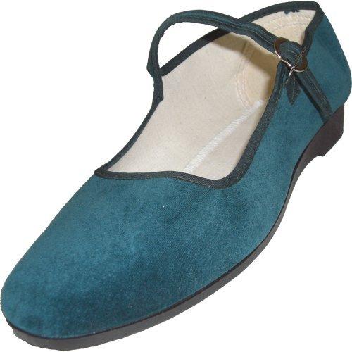 cina-scarpe-di-velluto-numeri-33-42-vari-colori-40-verde-scuro
