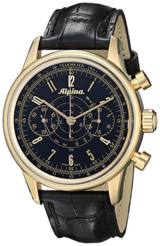 Alpina-Mens-AL860B4H5-Analog-Display-Swiss-Automatic-Black-Watch