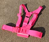 JMT 1Piece Adjustable Pectoral Girdle Chest Fitted Shoulder Strap Belt Mount Harness Pink for Gopro HD Hero 3 2 Camera