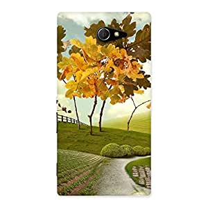 Cute Printed Way Back Case Cover for Sony Xperia M2