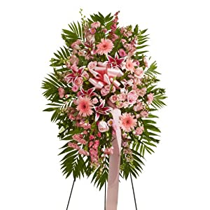 1800Flowers - Deepest Sympathies Standing Spray - Pink - Small