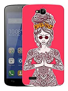 """Namaste Beautiful Printed Designer Mobile Back Cover For """"Huawei Honor Holly"""" By Humor Gang (3D, Matte Finish, Premium Quality, Protective Snap On Slim Hard Phone Case, Multi Color)"""