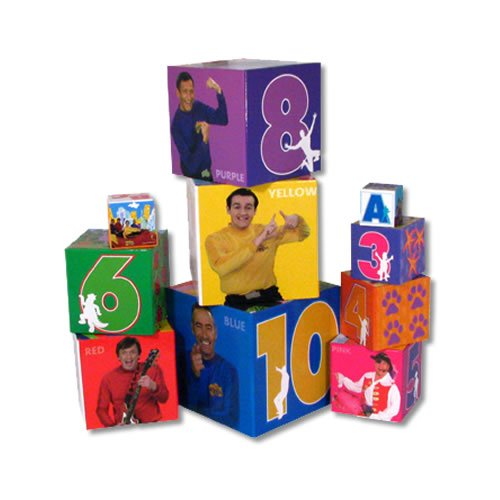 toy children: The Wiggles - Toys - Wiggles Stacking Building Blocks