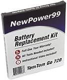 Kit de Remplacement de Batterie pour TomTom Go 720 GPS avec Vidéo d'Installation, Outils, et Batterie longue durée.