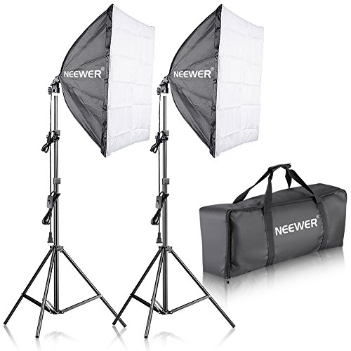 Neewer-700W-Professional-Photography-24x2460x60cm-Softbox-with-E27-Socket-Light-Lighting-Kit-for-Photo-Studio-PortraitsProduct-Photography-and-Video-Shooting