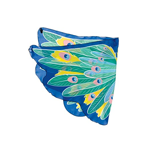 Large Fanciful Fabric Peacock Wings