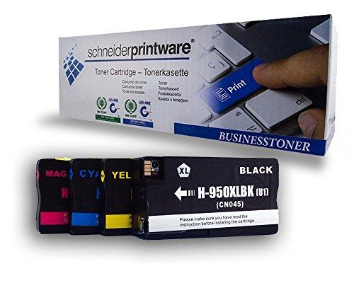 4 BUSINESS Tinten ersetzen HP 950XL / 951XL / C2P43AE / CN045AE - CN048AE, Tintenset, Set