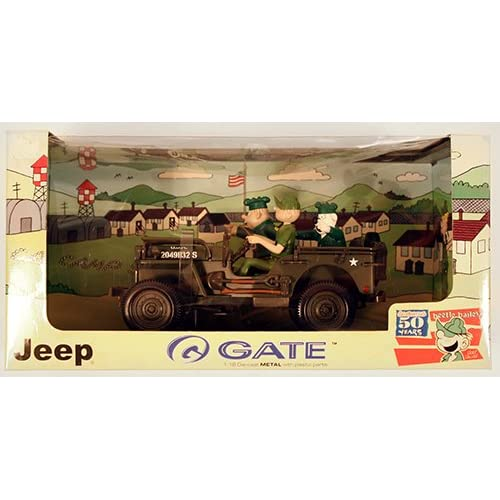 Beetle Bailey in Jeep Adventures 118 Scale Die Cast  Toys & Games